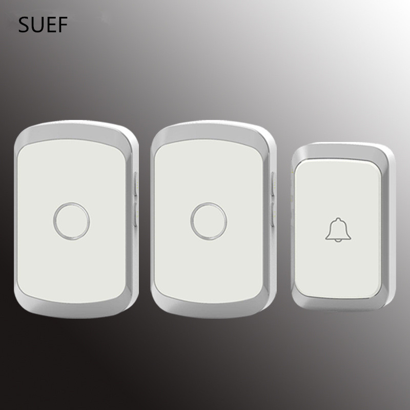 JXSFLYE Newest Waterproof Wireless Doorbell 36 Rings 3 Volume Door Chime 300M Remote Digital Door Bell EU/US/UK Plug