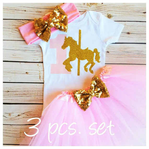 f557221b2c9 Customize Carousel Horse first birthday Newborn infant bodysuit onepiece  Tutu Dress romper Outfit Sets baby shower