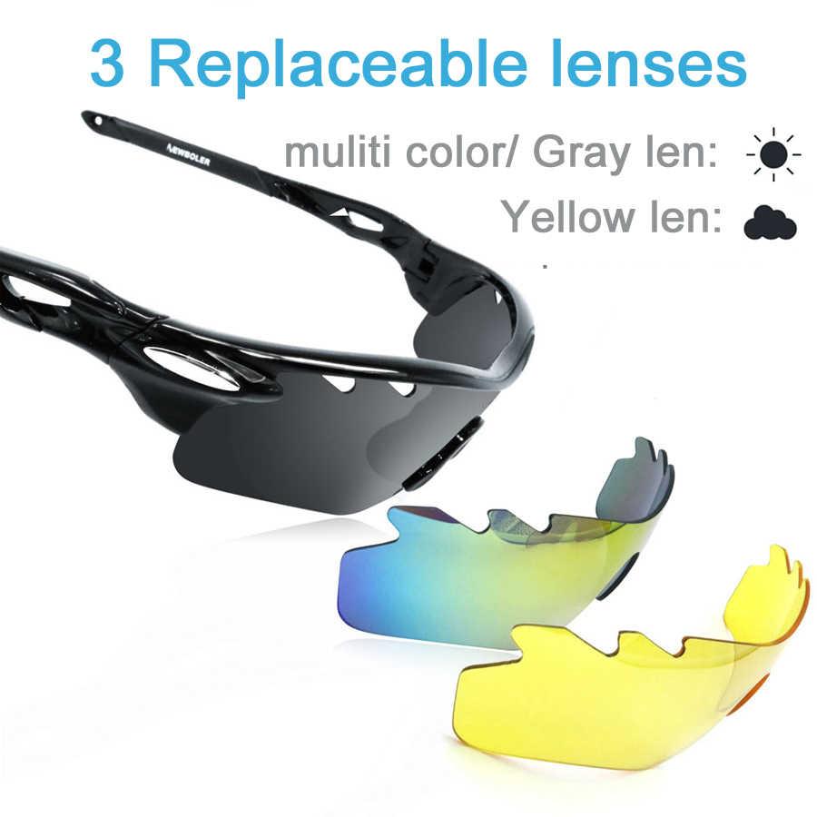 d131100bf0 ... Gafas de ciclismo polarizadas NEWBOLER 3 lentes para deportes al aire  libre gafas de sol de ...
