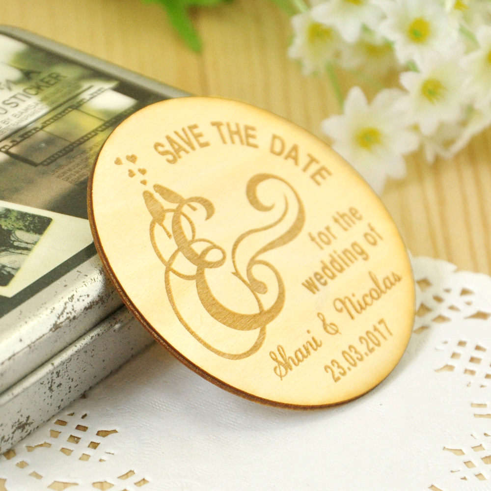 Wooden Save the Date Magnets, Rustic Wooden Magnets, Wedding Favors ...