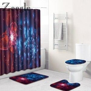 Image 4 - Zeegle Chống Nước Màn Tắm Có Móc Treo Nhà Tắm Bộ Thấm Hút Phòng Tắm Bao Ghế Ngồi Vệ Sinh Thảm Sàn Nhà Tắm Thảm