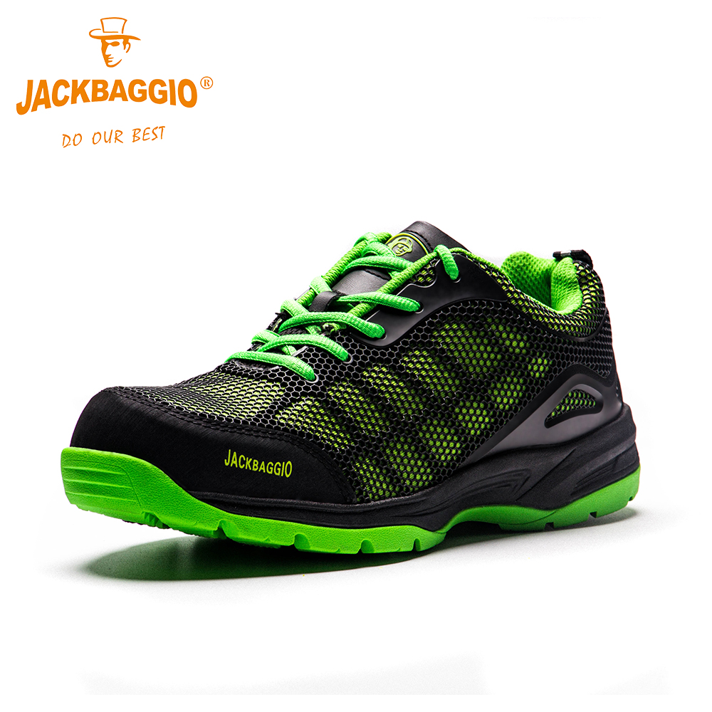 Fashion large size boots men breathable mesh steel toe caps work shoes summer safety shoes non