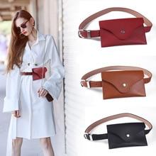 Fashion Waist Belt Leather Purse Tablet Wallet Multi-functional Outdoor Mobile Phone Bag Cash Wallet Versatile Stylish Ladies