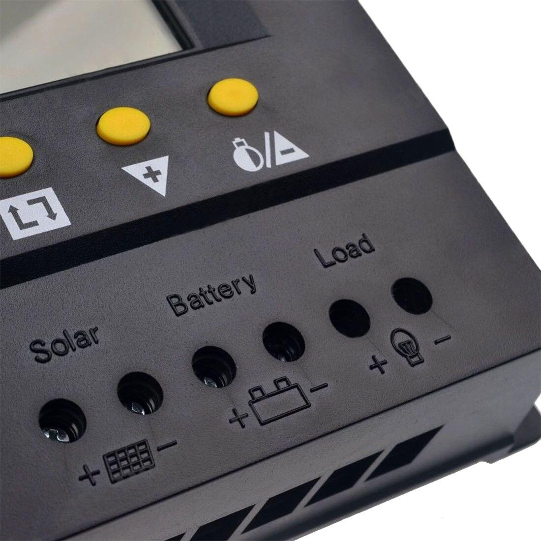 80A Solaire Contrôleur de Charge 960 w/12 v 1920 w/24 v PWM Chargeur de Batterie Régulateur 960 w /1920 w multi fonctionnelle avec LCD affichage écran