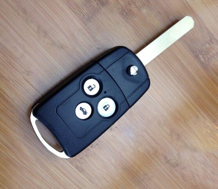 Brand New Uncut Lame 3 Boutons FOB Cas Flip Coquille Principale À Distance Pour Honda Accord Spirior CRV