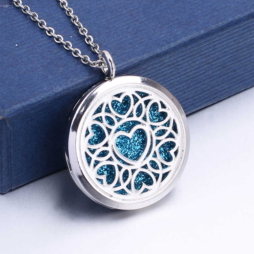 1pc Hollow Floating Love Heart Shape Locket Pendant Jewelry Aroma Perfume Fragrance Essential Oil Diffuser Locket Necklace