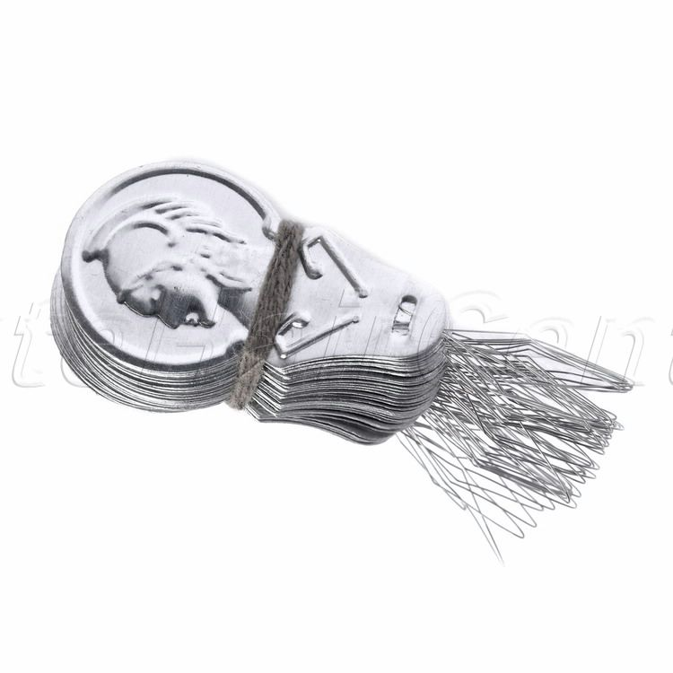 50x Sliver Bow Wire Needle Threader Hand Machines Sewing Stitch Insertion Tools