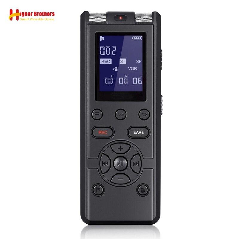 Enregistreur vocal numérique professionnel contrôle du son intelligent réduction du bruit HD HIFI lecteur MP3 de musique sans perte TF carte 64G étendre