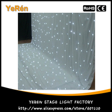 Led Star Curtain Led Star Cloth Backdrop Stage Background Cloth 4*6M White Color DMX 8 Channels for Party Satge Wedding Backdrop