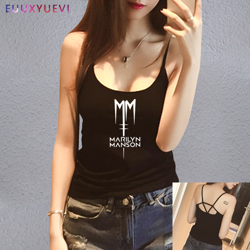 0b98767a8994e5 Detail Feedback Questions about Classic Marilyn Manson Rock women girl tank  top shirt 2018 Short Sleeve Cotton Casual Tanks Camis Tee tops wholesale on  ...