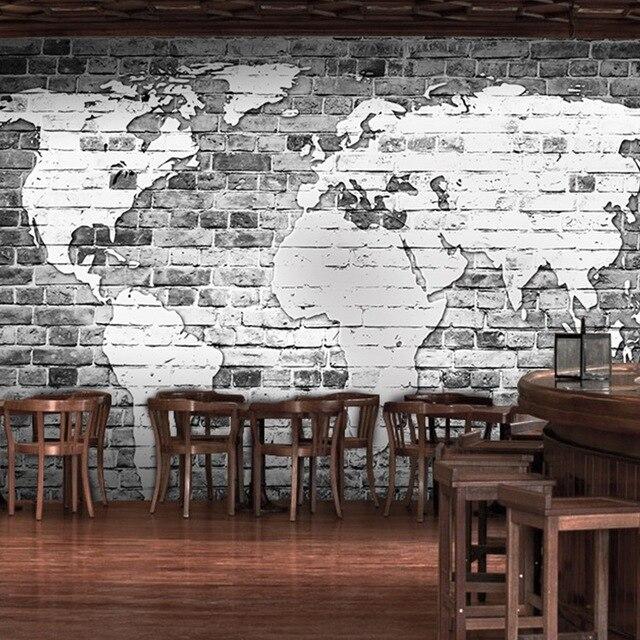 3d photo wallpaper gray cement brick wall wallpaper living for Grey brick wallpaper living room