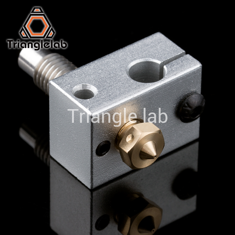 Trianglelab High quality 3D Printer Heater Block for Sensor Cartridges + Nozzle + heat break for 3D printer For E3D HOTEND I3 UM super mini 3d printer support usb or sd card connection createbot smallest 3d printer only 3kg net weight high quality for sale