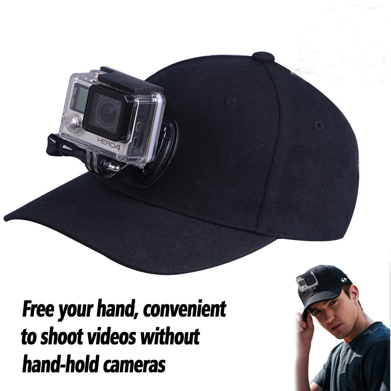 Caméra de sport Baseball Chapeau Pour Gopro Hero 5 4 3 EKEN H9 H8R H8 Xiaomi yi Accessoires SJCAM SJ500X Caméra Soleil Chapeau Cap avec Base