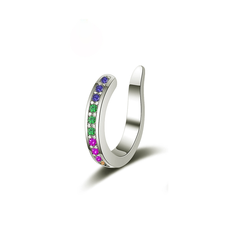 colorful cz silver