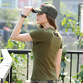 FreeArmy Brand Summer Spring Short Sleeved t shirt Casual Women t-Shirt Women Military Army T Shirt Large Size GS-8527A