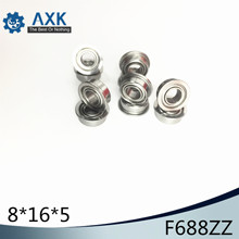 F688ZZ Flange Bearing 8x16x5 mm ABEC-1 ( 10 PCS )  Flanged F688 Z ZZ Ball Bearings free shipping 10 pcs smf106zz flanged bearings 6x10x3 mm stainless steel flange ball bearings ddlf 1060zz