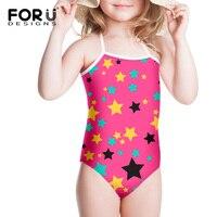 Pink Cute Girls Summber Beach Swim Suit One Piece Red Black Swimwears For Children Kids Swimming