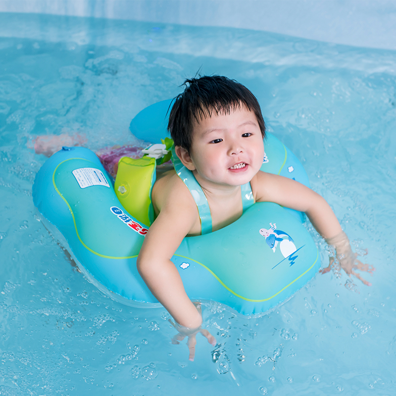 Inflatable Double Raft Floating Baby Swimming Ring 2