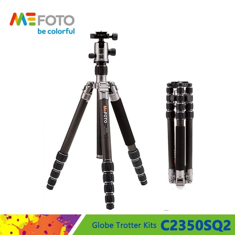 MeFOTO C2350SQ2 Carbon Fiber Tripod Kits Camera Monopod For Camera Q2 Head 5 Section Max Loading