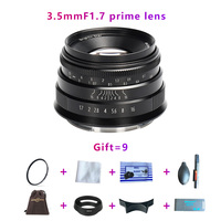 brightin star 35mmF1.7 lens large aperture lens For E mount,Canon EOS M,FX, M4/3,A7,A7II,A7R,A7RII,A7S, A7SII,M6,M5,M50,M100,NEX