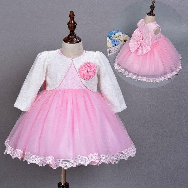 Марка Принцесса Малышей Baby Girl Party Dress Церемонии 1 Года Рождения Крещение Платья Для Девочек Детская Одежда
