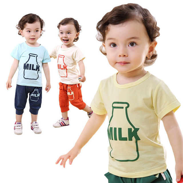 11e8280366 Anlencool High quality global best price baby clothing new cute boys suits  printed T shirt Summer baby clothes free shipping-in Clothing Sets from ...