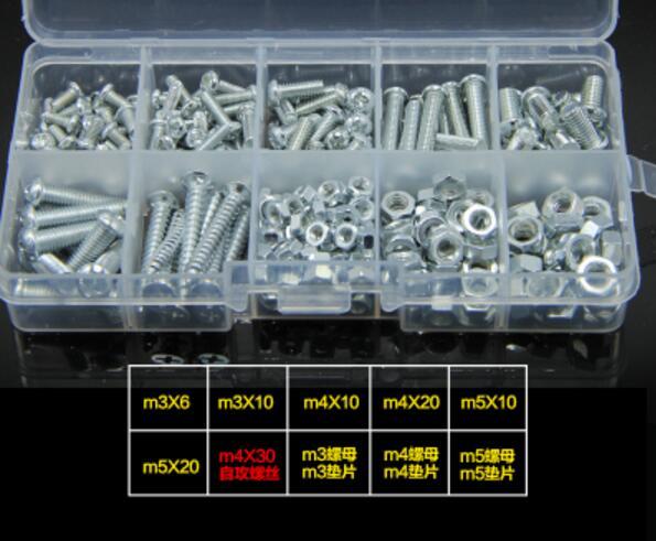 Cap Screw nut bolt washer kit set DIY Hardware Wholesale M3 M4 M5