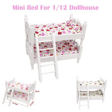 Mini Dollhouse Furniture Bed Set Miniature Living Room Kids Pretend Play Toy Children Kids Toys Gifts Doll House Accessories(China)