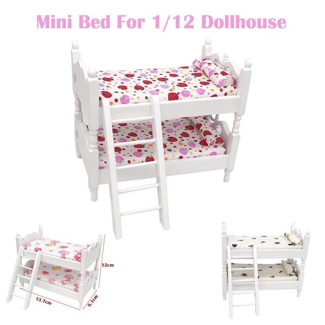Mini Jogo de Cama Em Miniatura de Móveis Casa de Bonecas Sala de estar Crianças Pretend Play Crianças Brinquedo Crianças Presentes Brinquedos Casa de Boneca Acessórios