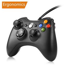 Геймпад для xbox 360 проводной контроллер для xbox 360 Controle проводной джойстик для xbox 360 игровой контроллер геймпад Joypad геймпад джойстик приставка