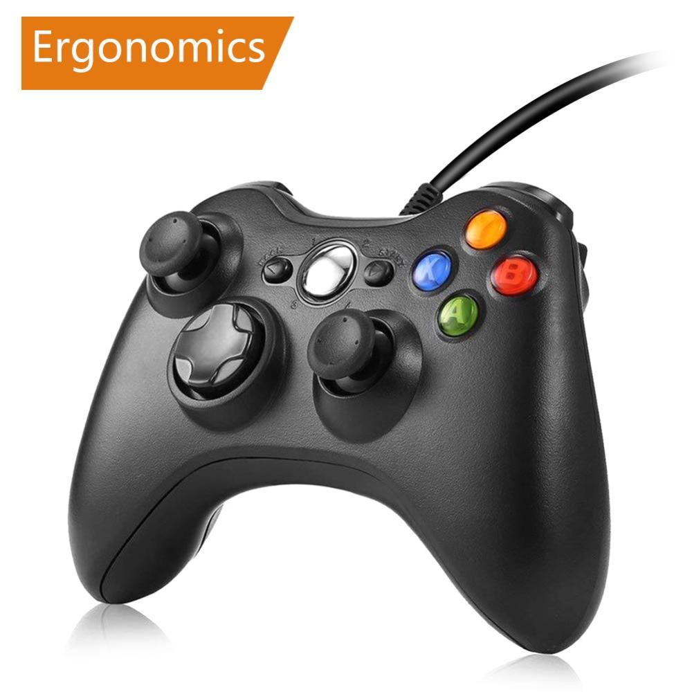 Gamepad para Xbox 360 controlador con cable para XBOX 360 Controle cable Joystick para XBOX360 Gamepad del regulador del juego de Joypad fortnite fornite gamepad mando pc