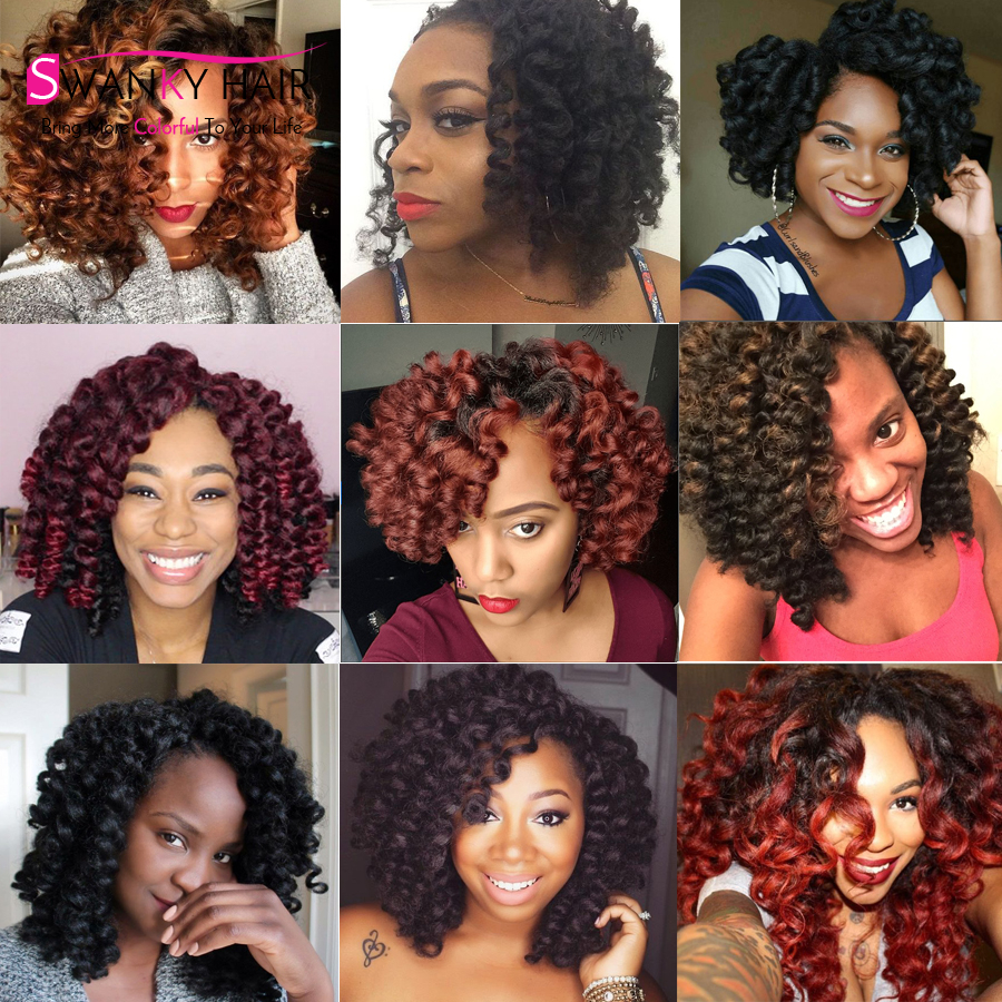 1 10pcs Premium Jamaican Bounce Crochet Hair 1b Color 90g 20roots Piece Jumpy Wand Curl Freetress Water Wave Twist On Aliexpress Alibaba
