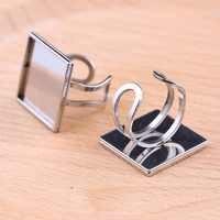 Reidgaller 5 pièces en acier inoxydable carré 20mm cabochon bague base ébauches bijoux à bricoler soi-même résultats pour fabrication de bagues
