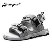 DJSUNNYMIX summer sandals men shoes comfortable men sandals fashion design casual men sandals shoes