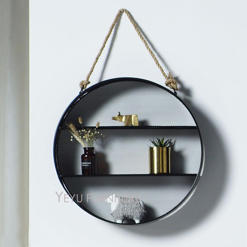 diseo moderno loft de metal montado en la pared estante de exhibicin estante de de