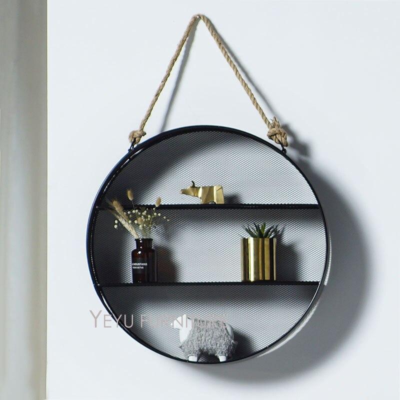 Modern Design Metal Loft Wall Mounted Shelf Display Rack