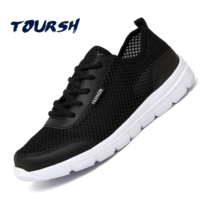 Toursh белый Спортивная обувь Для мужчин Летняя Повседневная Обувь красовки Мужская обувь 2018 Обувь Для мужчин дышащая Для мужчин Tenis masculino плюс размер 35-48