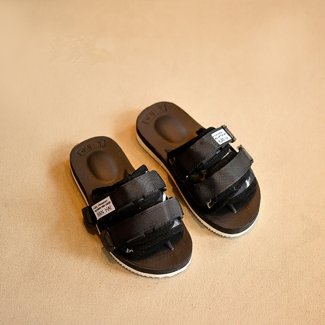 7f75a184dc736 Handsome Baby Boys Pool Sandals Adjustable Upper Soft Children s Footwear  Casual Slides Sandals for Kids Beach Shoes Baby Girls