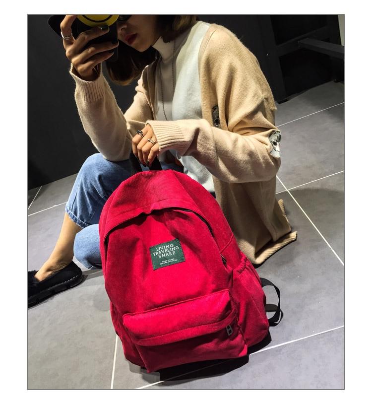 HTB12VJ1KeGSBuNjSspbq6AiipXaf Women Striped Corduroy Backpack Female Eco Simple Cloth Bag Large Capacity Vintage Travel Bags School Backpack for Teenage Girls