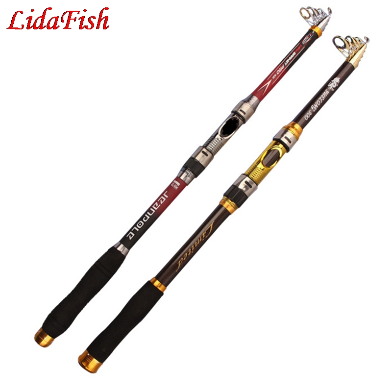 LIDAFISH Jellyfish factory wholesale fish rods cast fishing rods 2.1-3.6meters cross-border fishing gear long shot adjustable