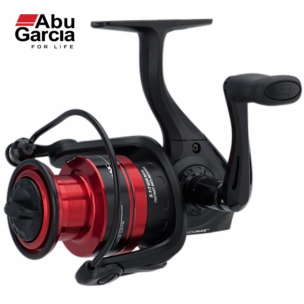 Spinning Fishing Reels Molinete Abu Garcia 100% Original BLACK MAX Spinning Fishing Reel 1000 Fishing Reel 3+1 BB 5.2:1 abu garcia revo deez 9 1bb 6 2 1 1000 spinning reel jb top50 professional angler special design freshwater fishing reel tackle