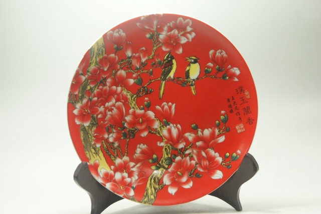 Fine Old China porcelain painted Ceramic plates Porcelainu0026 Pottery Flower Bird painted Collectible Porcelain & Fine Old China porcelain painted Ceramic plates Porcelainu0026 Pottery ...