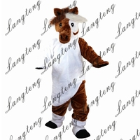 Hot Sale Horse donkey Mascot Costume Adult Size Halloween Outfit Fancy Dress Suit Free Shipping 2019New