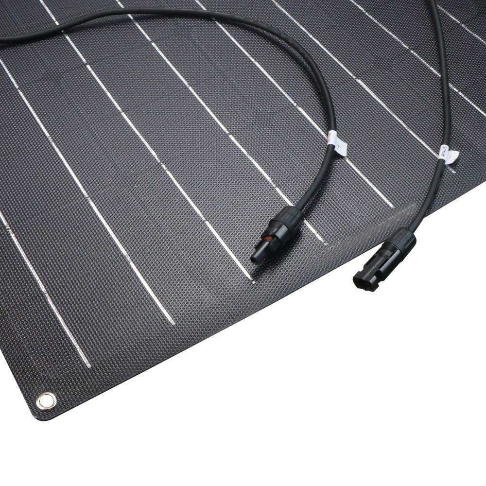 50 Вт солнечная панель 12 В монокристаллический солнечный элемент ETFE Полу Гибкая батарея зарядное устройство система комплект панели солнечных батарей для лодки караван