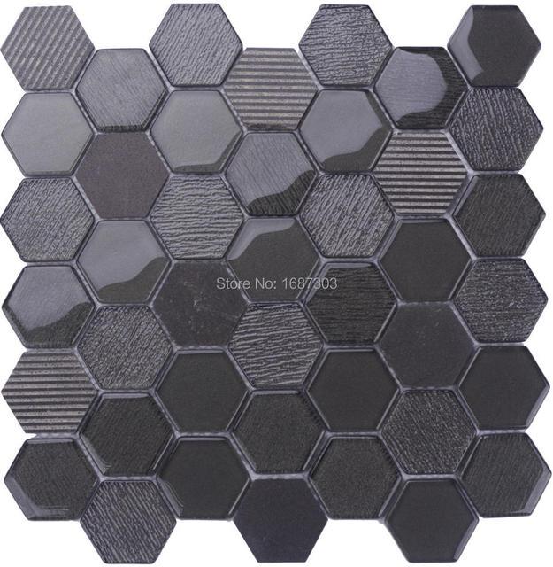 simple home decor hexagonale verre mixte marbre salle de bains cuisine mosaque de fond intrieure. Black Bedroom Furniture Sets. Home Design Ideas