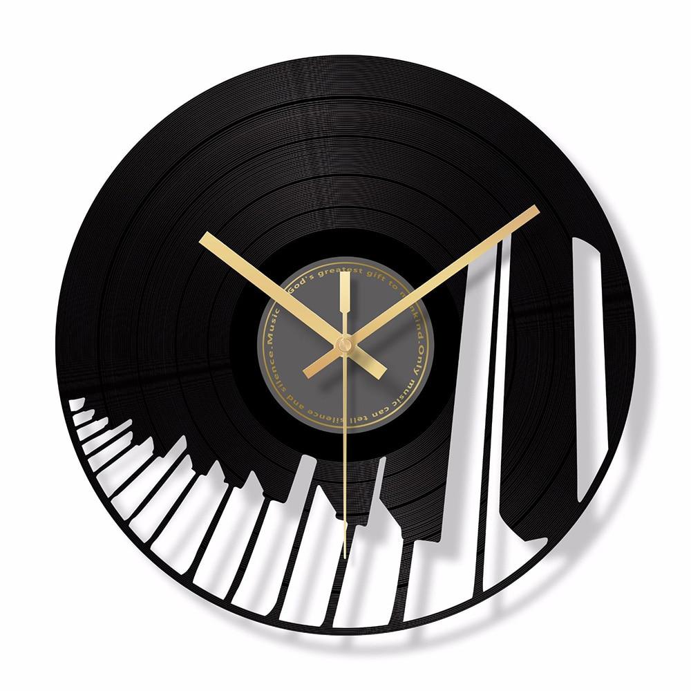 Piano Wall Clock Glass Digital Wall Clocks Modern Design Mute Car Shape  Decorative Hanging Clock for Living Room Home Decor
