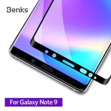 Benks X برو + طبقة واقية من الزجاج المقسى 0.3 مللي متر حامي شاشة إتش دي منحني سطح 9H ل samsung galaxy note 9