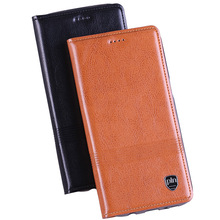 "New Top Genuine Leather Case For Lenovo S820 S 820 4.7"" Flip Stand Micro Magnetic High Quality Luxury Cowhide Phone Cover"