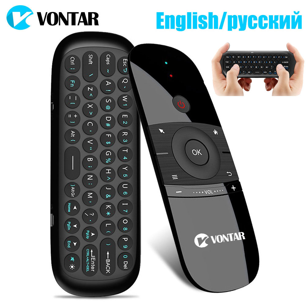 2.4Ghz Air Mouse English/Russian Mini wireless Keyboard Gyro Sensing IR Learning Remote Control for Android TV BOX HTPC Mini PC