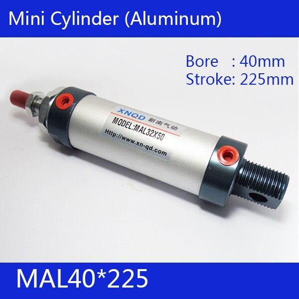 Free shipping barrel 40mm Bore225mm Stroke  MAL40*225 Aluminum alloy mini cylinder Pneumatic Air Cylinder MAL40-225 65mm big bore cylinder barrel